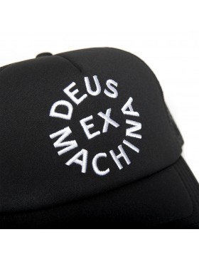 DEUS Trucker cap Circle logo - black