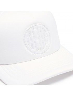 DEUS Hat Trucker Pill - white on white