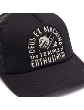 DEUS Hat Trucker TEMPLE - black