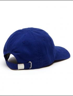 Lacoste hat - Big Croc Gabardine - ocean blue
