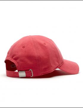 Lacoste hat - Big Croc Gabardine - sirop pink
