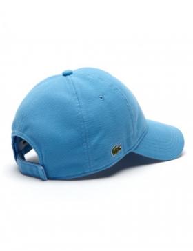 Lacoste hat - cotton pique - thermes blue