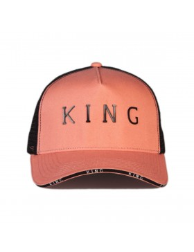 KING Apparel Stepney Curved Trucker cap - Coral