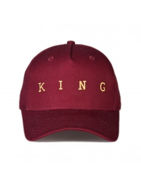 KING Apparel Tennyson Gold Curve Peak cap - Oxblood