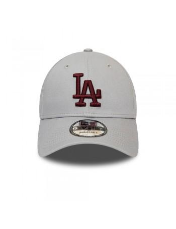 New Era 9Forty League Essential (940) LA Dodgers - Grey/Maroon
