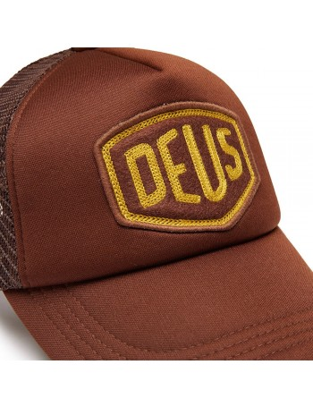 DEUS Trucker hat Felt Shield - brown