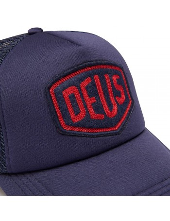 DEUS Trucker hat Felt Shield - navy