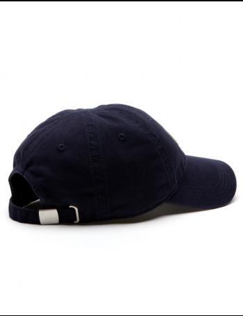 Lacoste hat - Big Croc Gabardine - navy blue