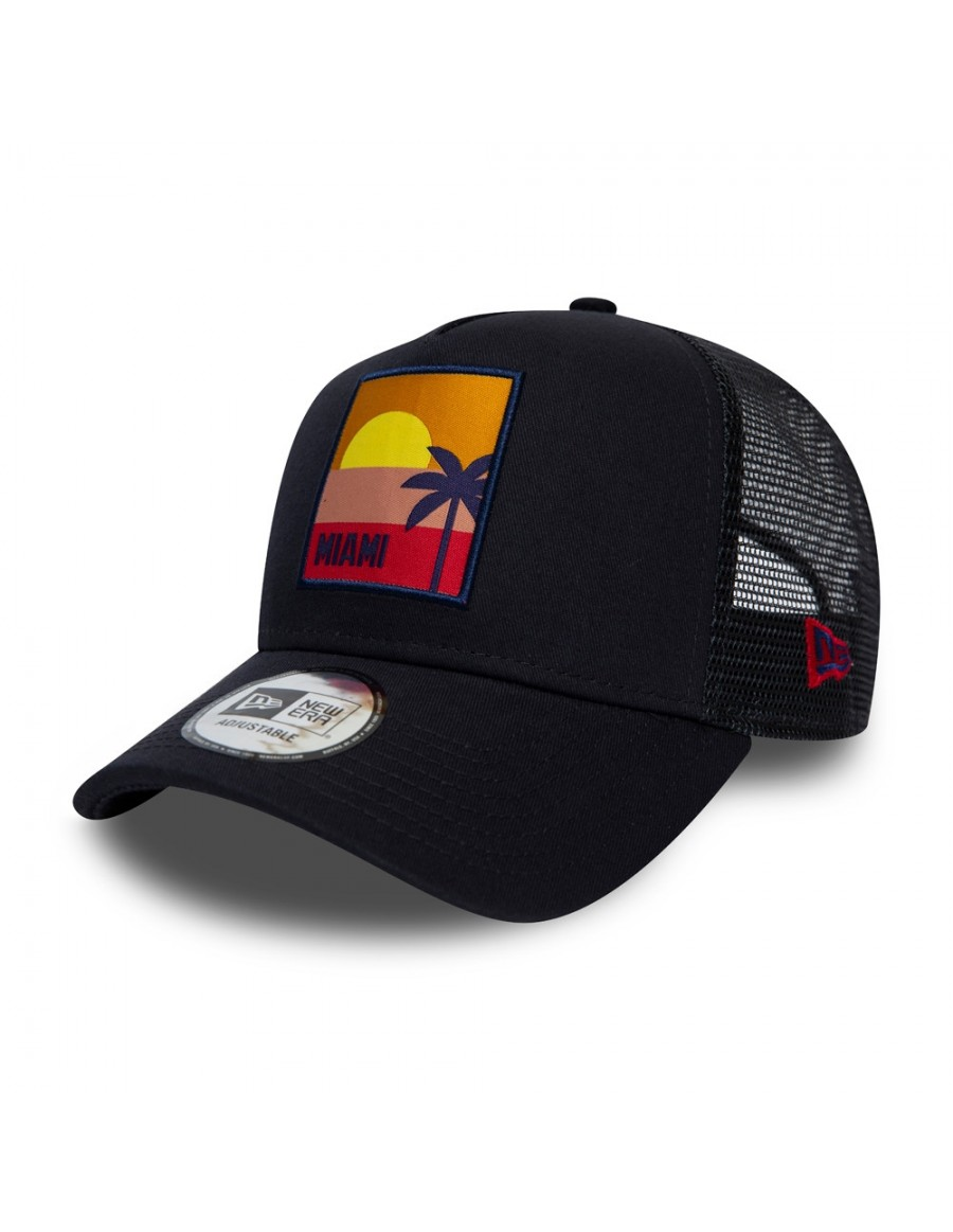 New Era Location AF Miami Trucker - Navy