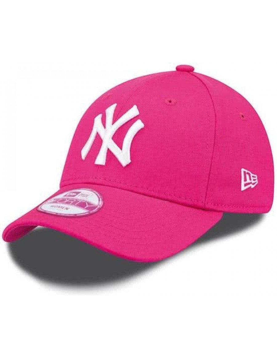 9a676f7fb08 New Era 9Forty Curved cap (940) NY New York Yankees - pink + LOW ...