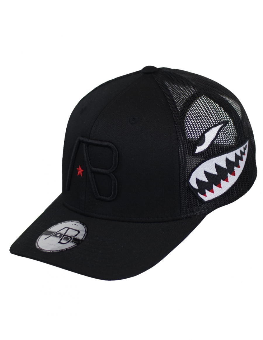 AB cap Retro Trucker - Airborne LIMITED black
