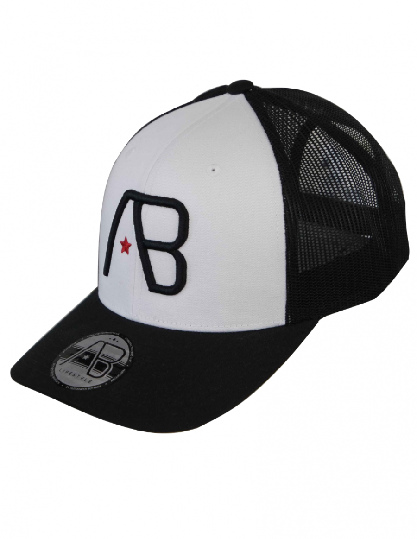 AB cap Retro Trucker - black white