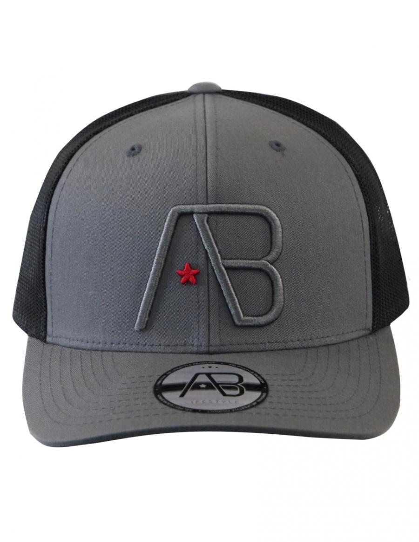 AB cap Retro Trucker - graphite grey - black
