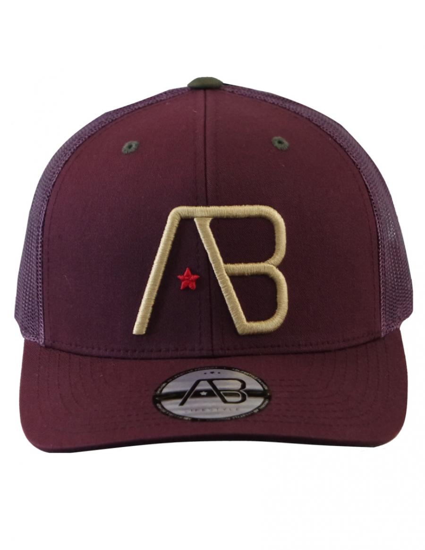 AB cap Retro Trucker - maroon - amber gold