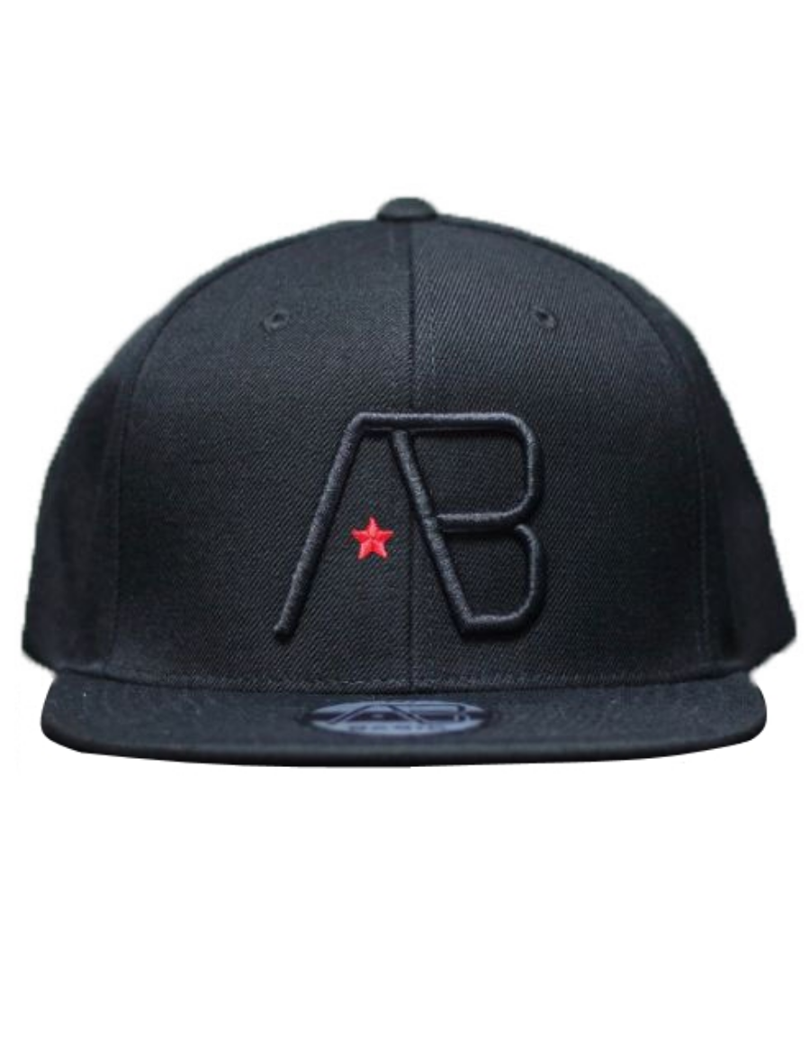 AB cap Snapback - black on black