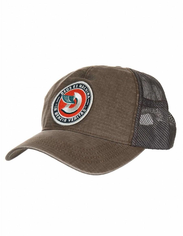 DEUS Asutralian Embroided Marley Trucker cap - Cocoa