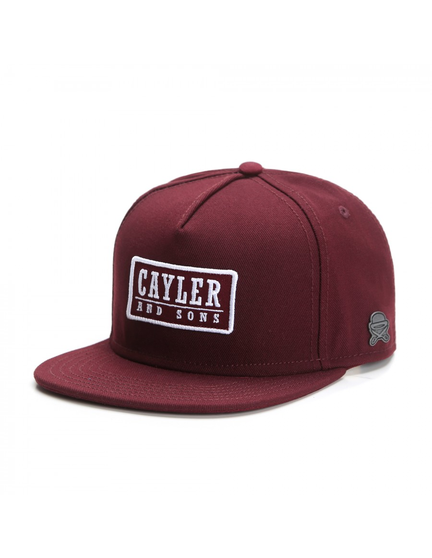 Cayler & Sons Garage snapback cap - maroon