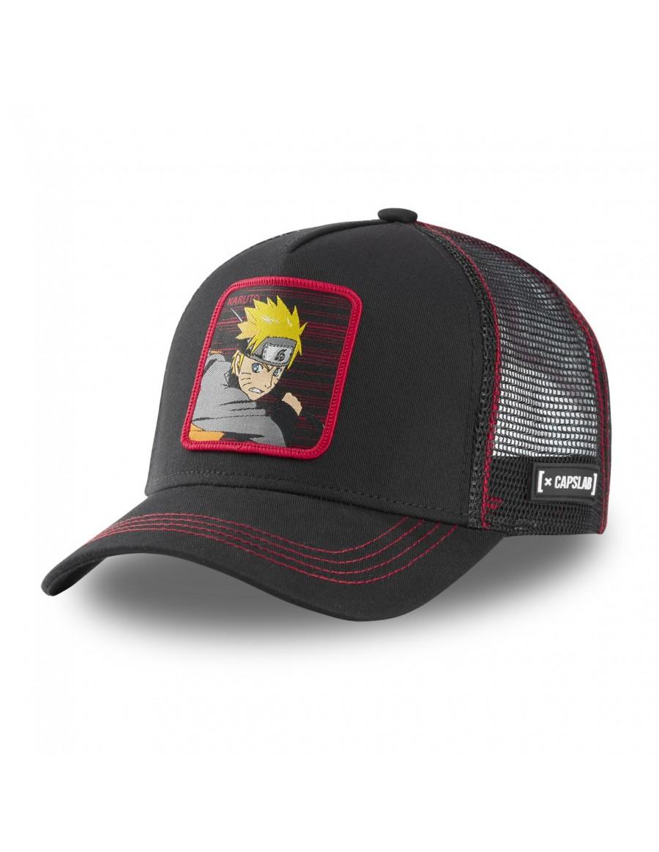 Capslab - Naruto Trucker cap - Black-Red