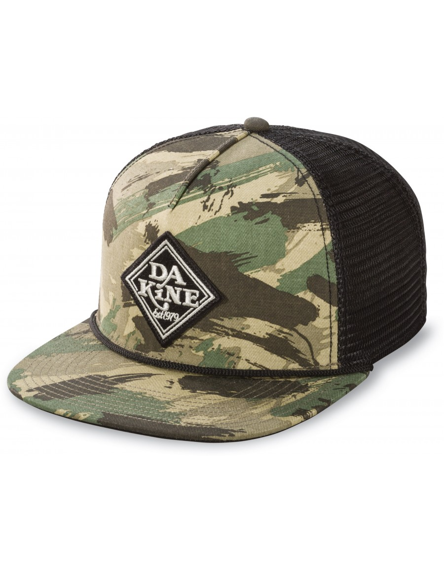 2502ab587a1b0 Dakine Classic Diamond flat bill trucker cap - camo black + LOW ...