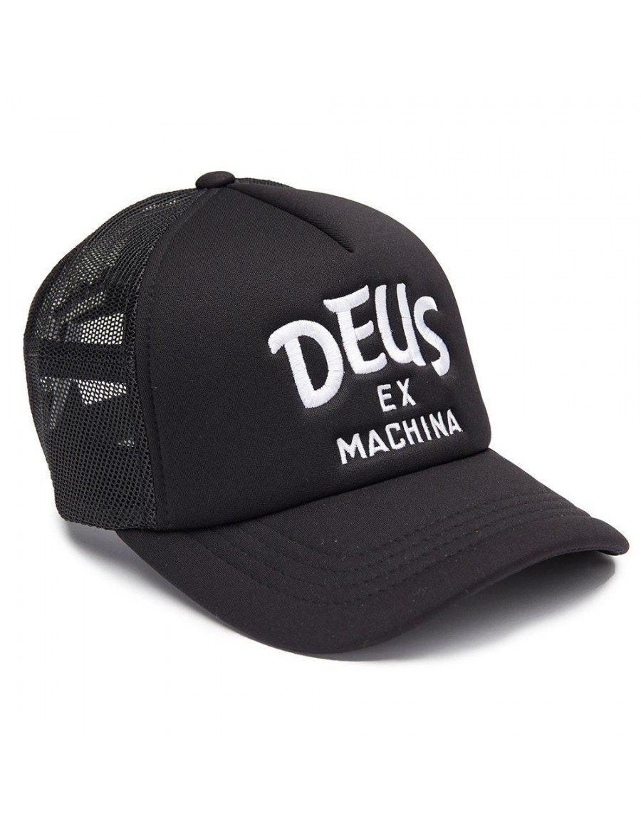 DEUS Hat Curve Trucker - black