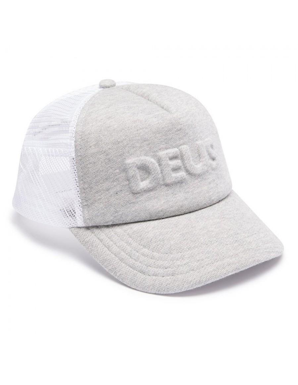 DEUS Hat Trucker Capital Letters- grey marle