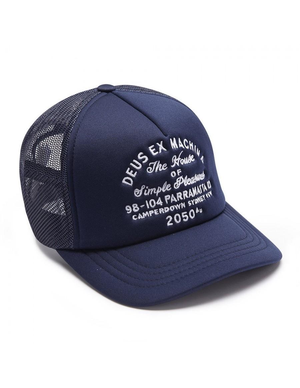 DEUS Hat Trucker Camperdown Address - navy