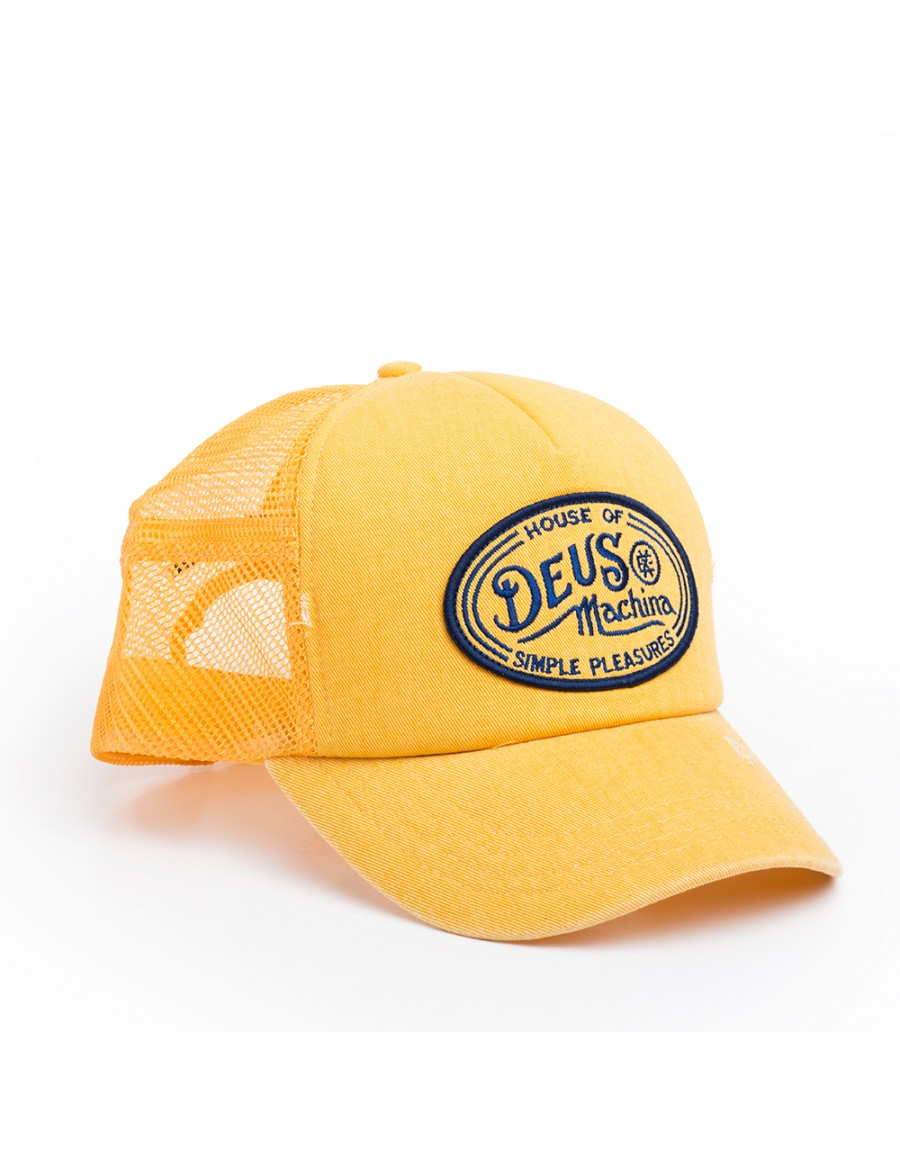 DEUS Hat Trucker Charlie - washed yellow