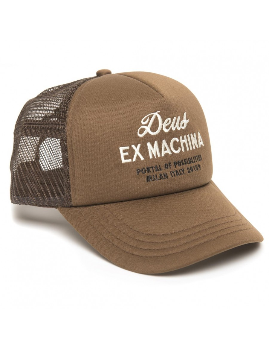 DEUS Hat Trucker House - brown
