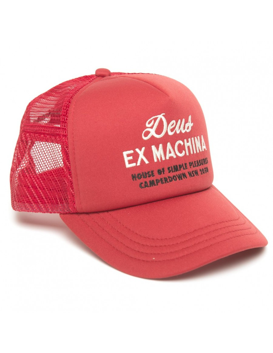 DEUS Hat Trucker House - red