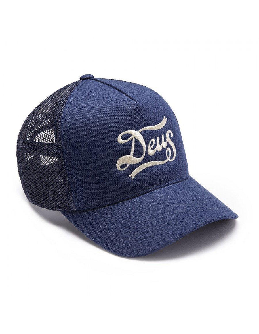 DEUS Hat Trucker Jones - navy
