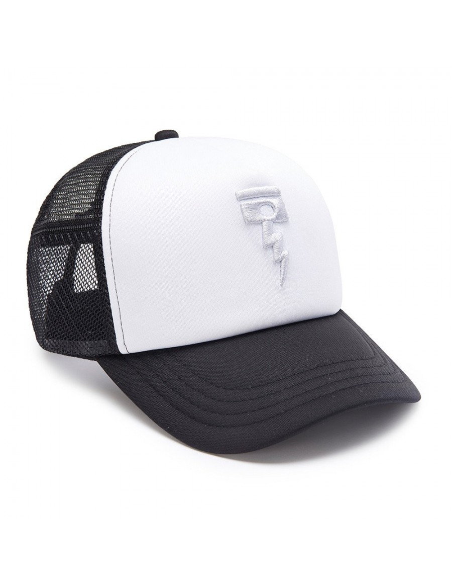 DEUS Hat Trucker November - black white
