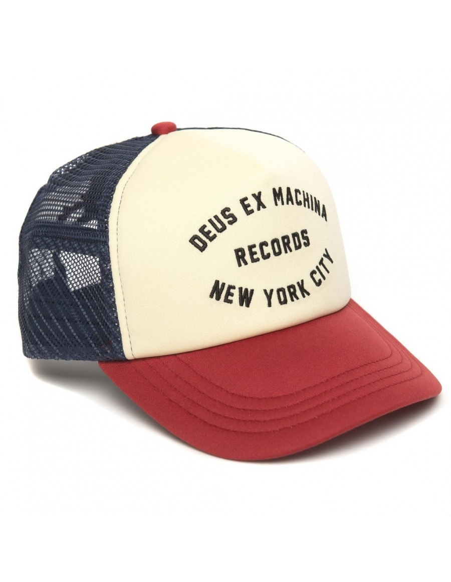 DEUS Hat Trucker NYCITY - red navy