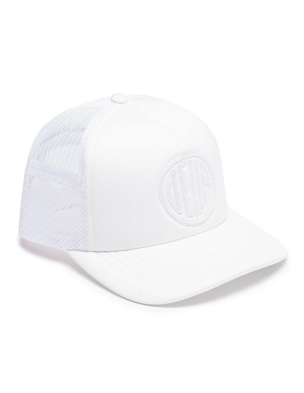 DEUS Hat Trucker Pill - white on white