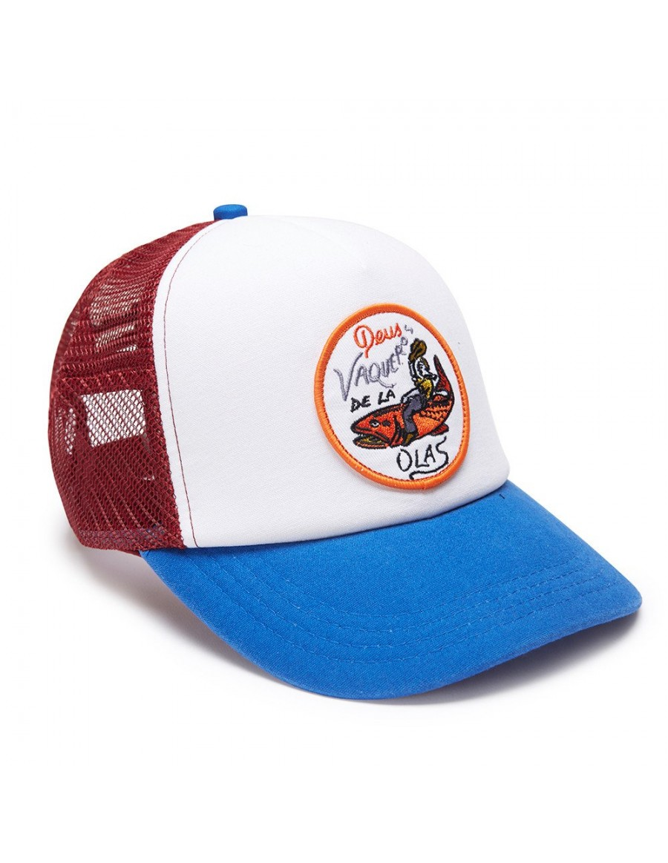 DEUS Hat Trucker Vaqueros - blue red