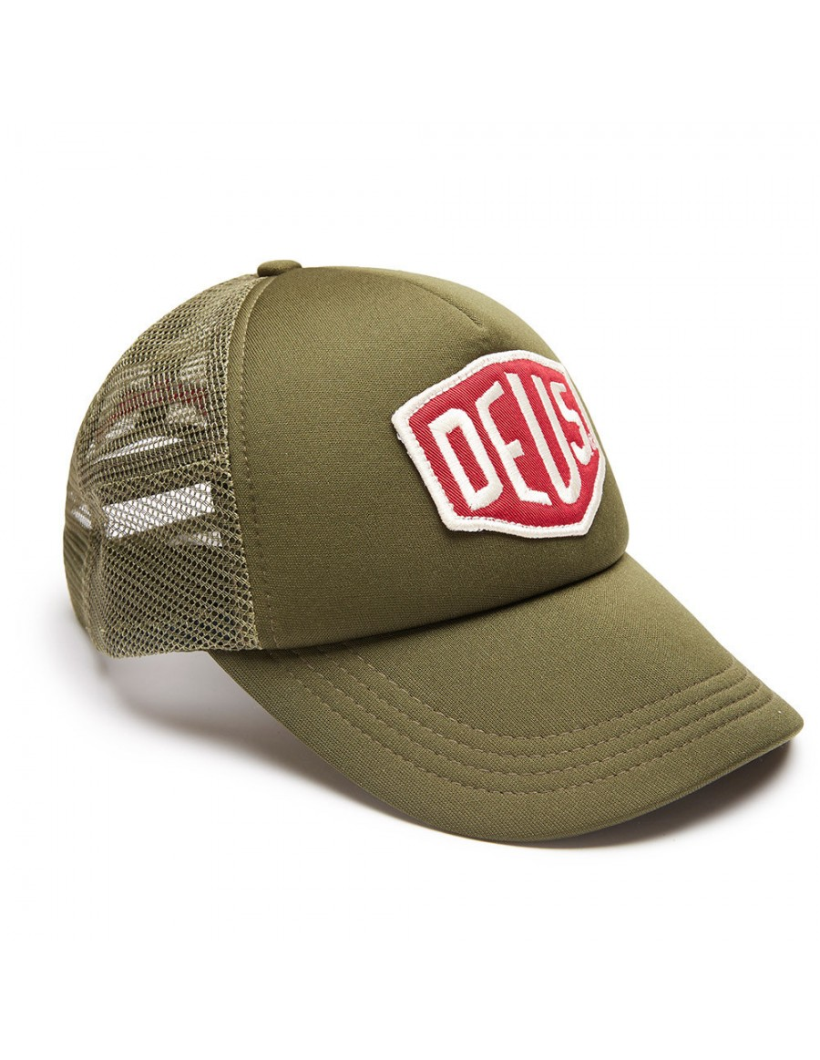 DEUS Trucker hat Colour Shield - khaki
