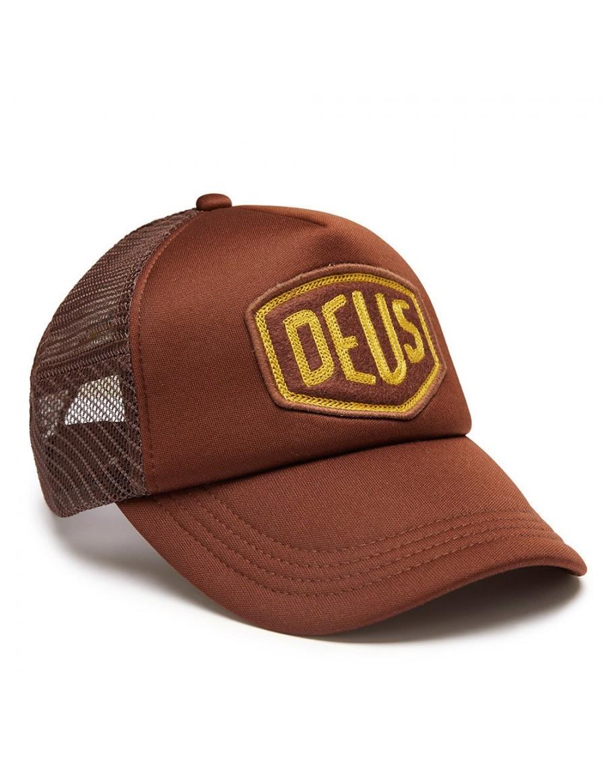 DEUS Trucker hat Felt Shield - brown