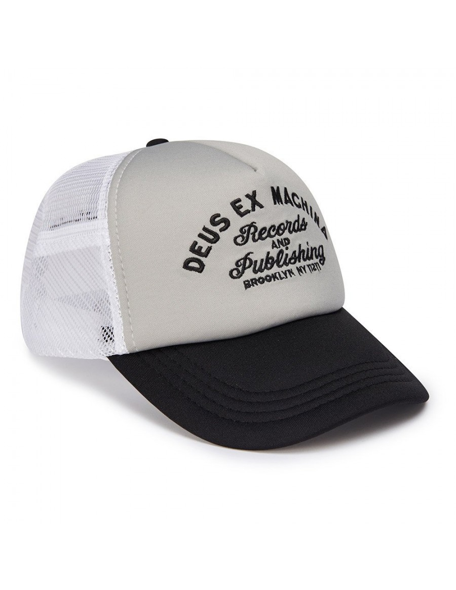 DEUS Hat Trucker R&P- white grey
