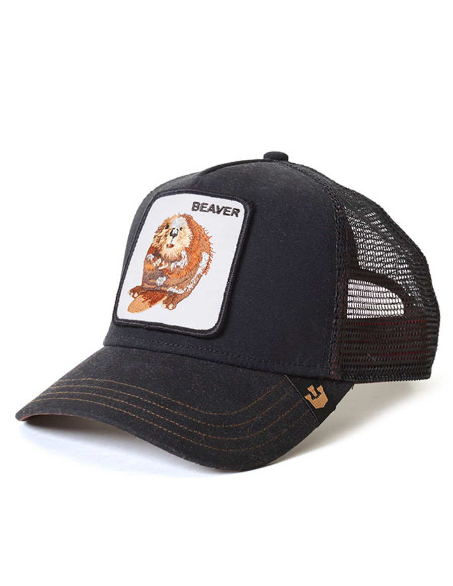 Goorin Bros. Beaver Waxed Trucker cap -  Black