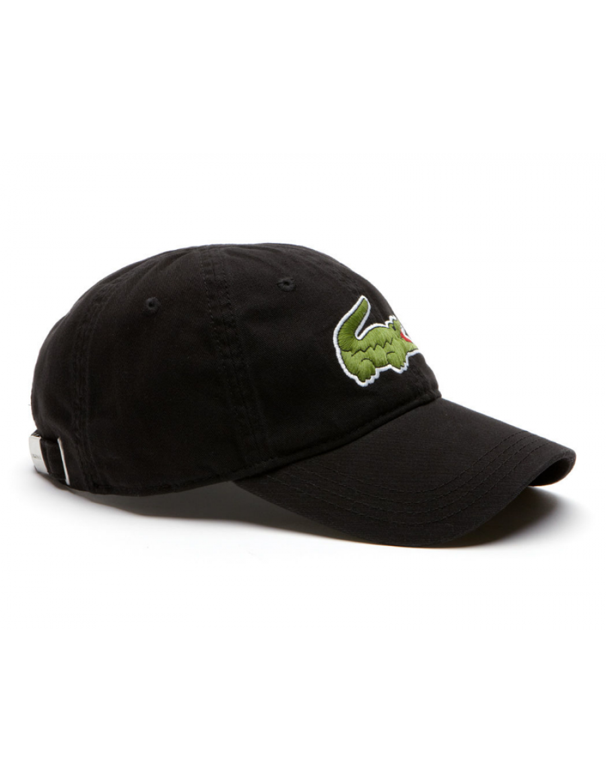 Lacoste hat - Big Croc Gabardine - noir black