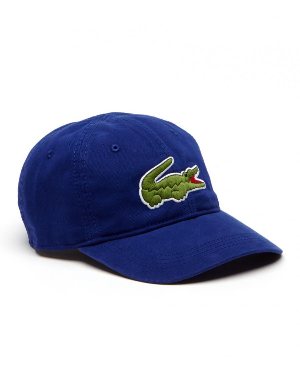9f369d8333b Lacoste hat - Big Croc Gabardine - ocean blue