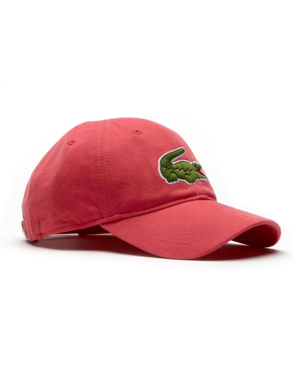 a848ee67e88 Lacoste hat - Big Croc Gabardine - sirop pink