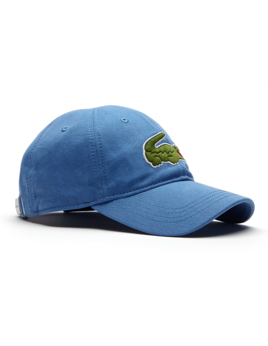 Lacoste hat - Big Croc Gabardine - thermal blue