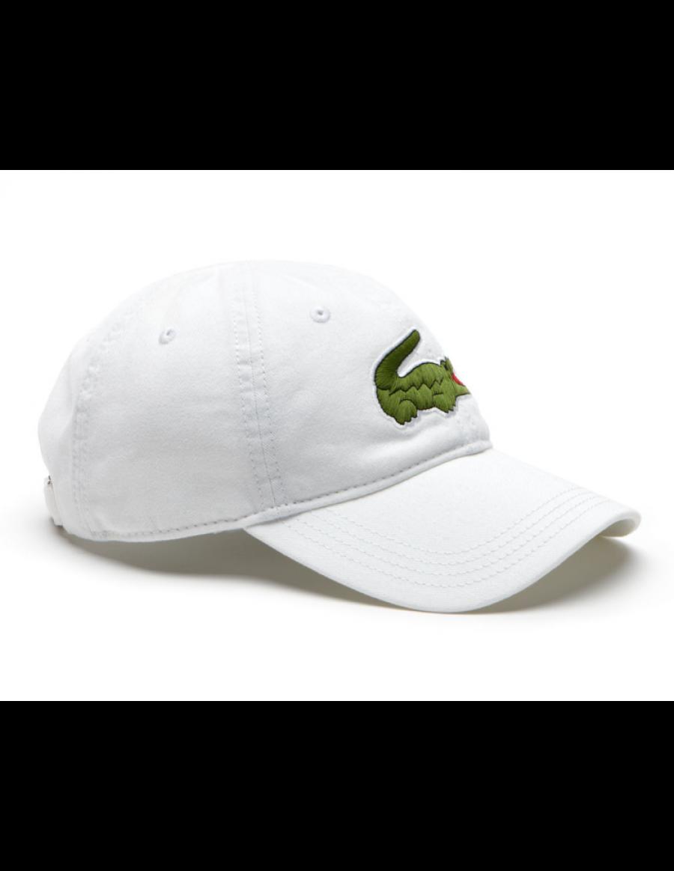 Lacoste hat - Big Croc Gabardine - white