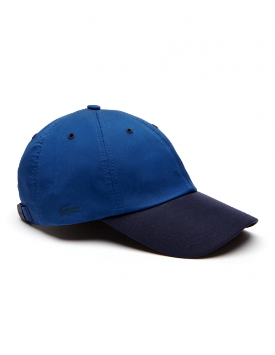 Lacoste hat - Contrast visor stretch twill - navy blue