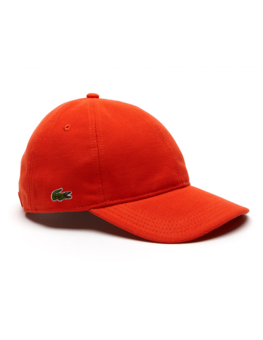 Lacoste hat - cotton pique - etna orange