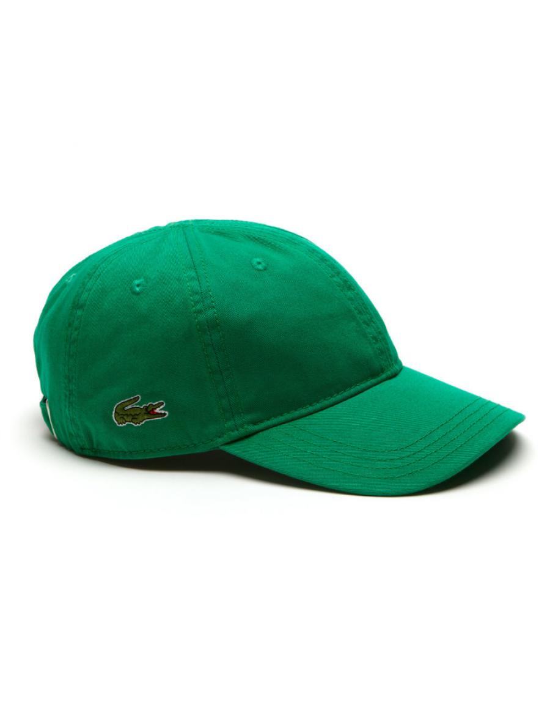 Lacoste hat - Gabardine cap - yucca green