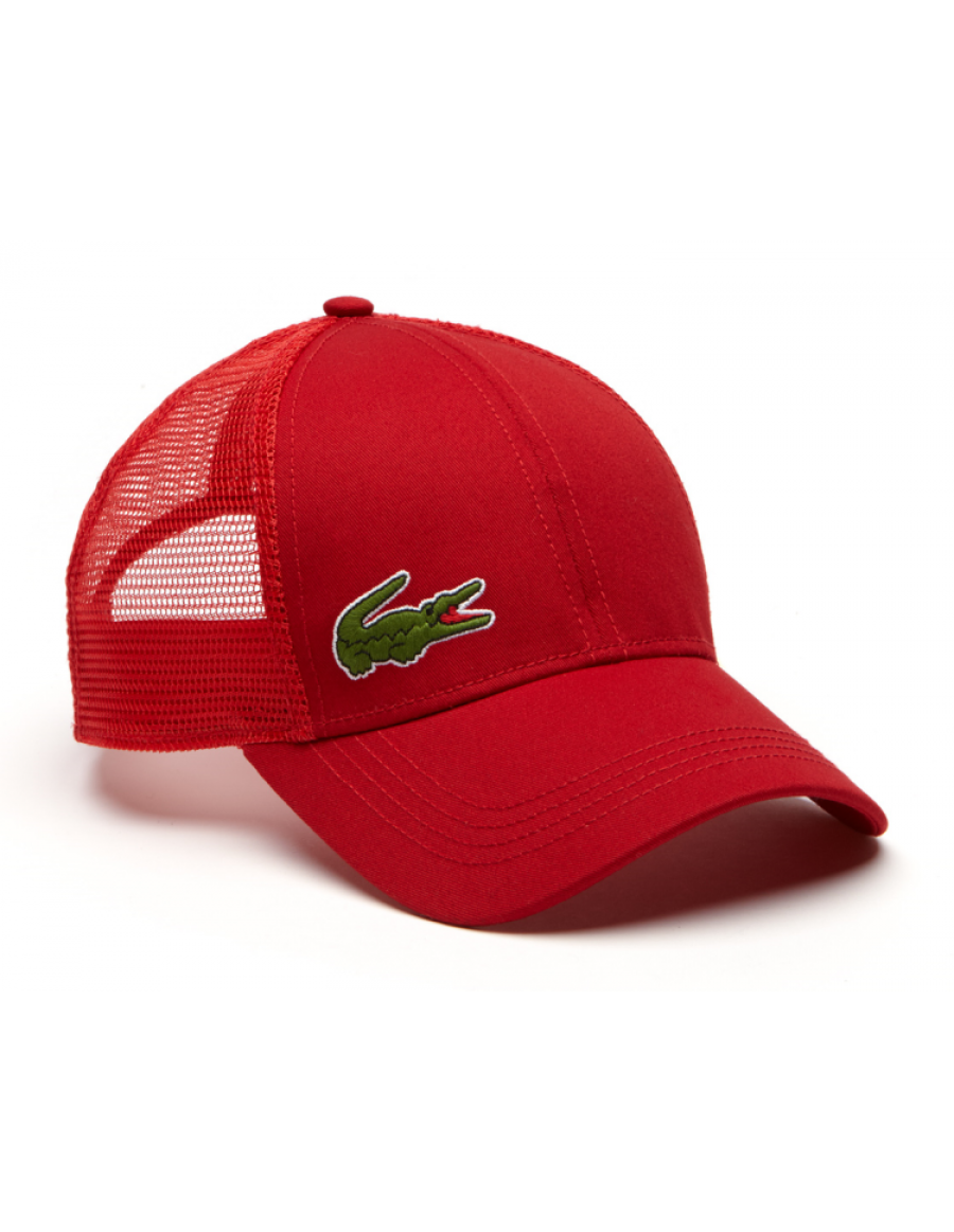 Lacoste hat - Trucker cap - red + LOW shippingcosts 87e62d39861