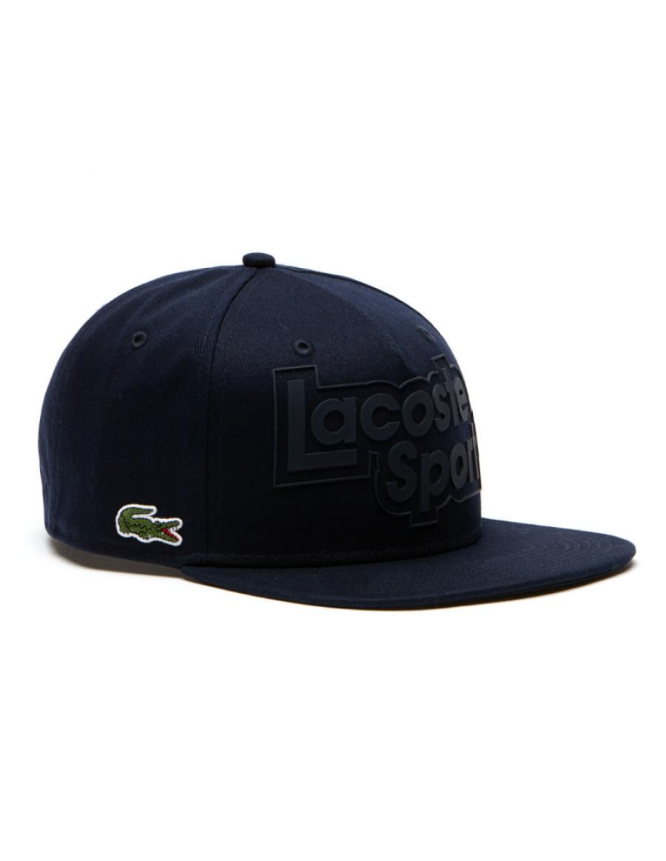 Lacoste snapback cap - sport branded - marine blue