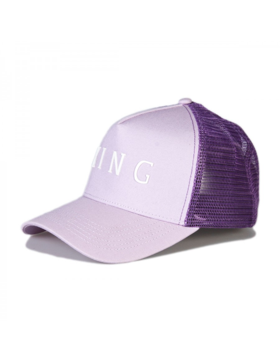 KING Apparel Leyton Curved Trucker cap - Lilac