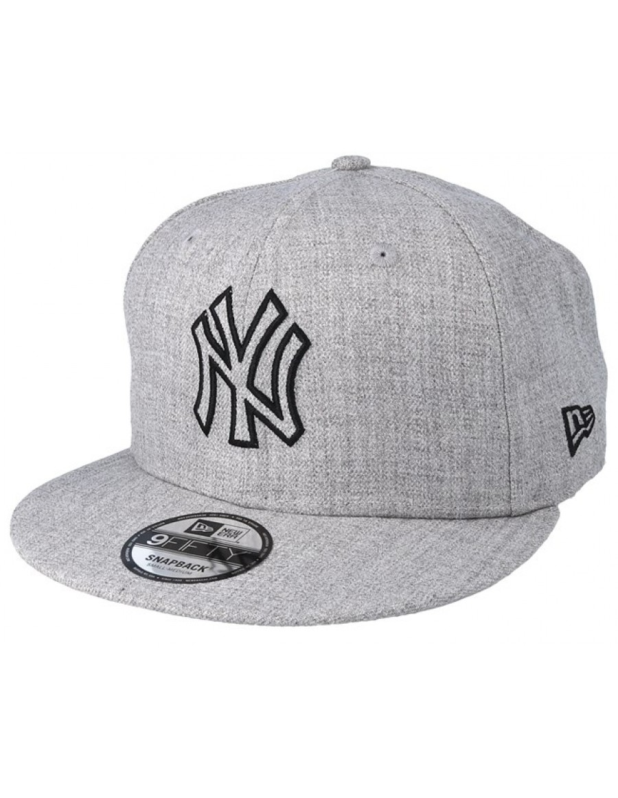New Era 9Fifty MLB Heather Essential (950) NY New York Yankees - Gray